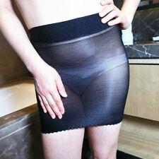 Ladies Super Elastic Sheer Shiny Skirt Micro Mini Tube Bodycon Nylon Nightdress