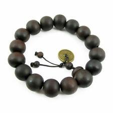 Men's Wooden Buddha Buddhist Prayer Beads Tibet Mala Wrist Fashion Bracelet Q9R3