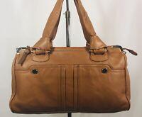 TRE VERO Soft Brown Leather Hobo Satchel Shoulder Bag Handbag