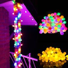 20M 200 LED Lichterkette Kugel Lichterkette Außen Bunt Party Garten Beleuchtung