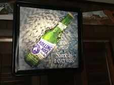 Vintage Rolling Rock Lighted Motion Waterfall Bar Sign 1994 Rare version