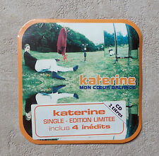"CD AUDIO / KATERINE ""MON COEUR BALANCE"" CD SINGLE PROMO 1996 NEUF NEW SCELLE"