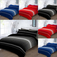 Duvet Quilt Cover Set Single Double King Super King Pillowcase Elliot Size black