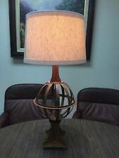 "Vintage Rustic Iron Metal Orbit Globe 1-light Accent Table Lamp, 26"" Tall, 11"" W"