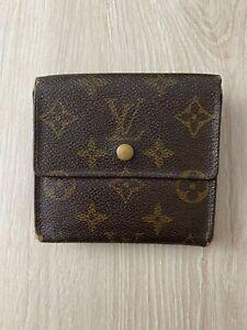 Louis Vuitton Elise Trifold Square Monogram Leather Vintage Brown Wallet Purse 2