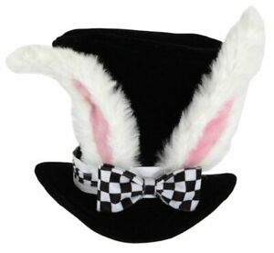 Alice in Wonderland White Rabbit Top Hat Adult Costume Ears Bunny Mad Hatter NEW