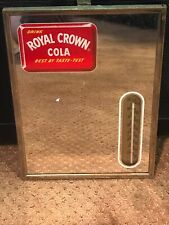 Rare ROYAL CROWN COLA Reverse Painted Mirror Thermometer - Best By Taste-Test