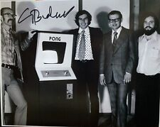 nolan bushnell Signed 8x10 Photo Pic Auto Creator Of Atari 2600 Pong