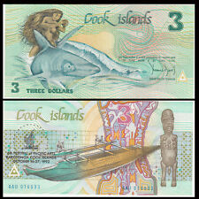 Cook Island 3 Dollars, 1992, P-6, A-UNC>COMM.