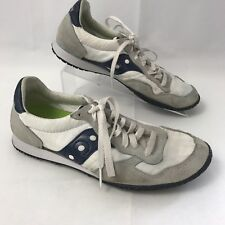 Saucony Originals Mens sz 8 Bullet Classic Sneaker White Blue Shoes