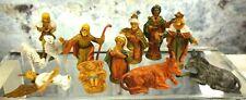 "Vintage 2"" Miniature Fontanini 12 Pc. Nativity Set Holy Family Wise Men Angel +"