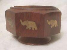vintage wood infant elephant wooden stand coaster  holder ?  *no lid accessory