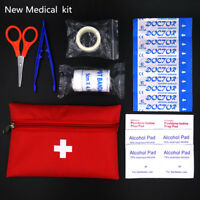Kit Red Camping Emergency Survival Bag Waterproof Medical 8Pcs.
