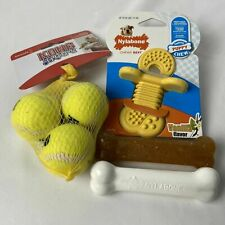 Puppy Chew Toys lot  Nylabone Chew Bones, Pacifier and 3 Kong Balls