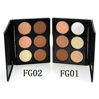 6 Colors Makeup Face Contour Powder Concealer Bronzer & Highlighter-Palette C3S9