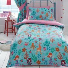 Mermaid Duvet Cover Set Single Bedding Childrens - 2 In 1 Design