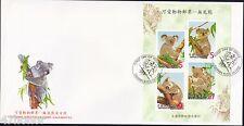 Taiwan 2002 , Koala Bear , M/S FDC