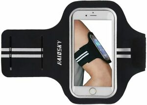 "5.5"" Reflective Water Resistant Sports Armband Phone/Key Holder - NEW - UK STOCK"