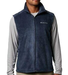 Columbia Men's Steens Mountain Full Zip Soft Fleece Vest 2XT Collegiate Navy