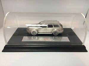 Rare Audi RS4 Avant Quattro 1:18 Model Pewter Car On Wooden Plinth #CF