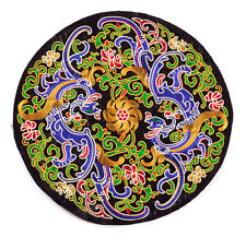 """12"""" FINISHED CHINESE PHOENIX MANDALA QUILT FABRIC EMBROIDERY PATCH PAINTING ="""