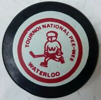 WATERLOO NATIONAL PEE WEE TOURNAMENT HOCKEY PUCK OFFICIAL MADE IN CZECHOSLOVAKIA