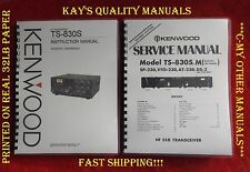 High Quality TS-830S Instruction & Service Manuals  w/32Lb PAPER & Heavy Covers!