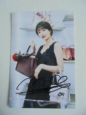 Suzy Bae Miss A 4x6 Photo Korean Actress KPOP autograph signed USA Seller 36