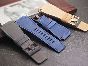 Genuine Chamois leather suede Strap Band bracelet fits BELL & ROSS BR1 BR-01
