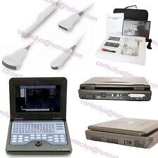 New Portable ultrasound scanner laptop machine 3 Probes Convex/Linear/Cardiac,CE