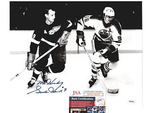 Autographed GORDIE HOWE with Wayne Gretzky 8X10 JSA