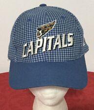 Vintage ~ 1990s Washington Capitals NHL LOGO ATHLETIC Grid Iron Hat Baseball Cap