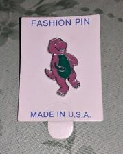 Barney The Purple Dinosaur Pin pinback new RARE HTF ONLY 1 LISTED kids TV show