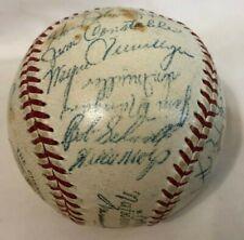 1956 New York Giants Team Signed Baseball w/Willie Mays (25 Autos) HOF