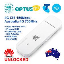 FACTORY UNLOCKED HUAWEI 4G LTE USB MODEM DONGLE  OPTUS 4G+ TELSTRA 4GX - PREMIUM