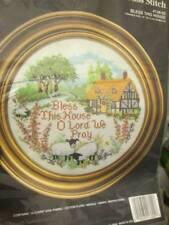 Bless This House Cross Stitch KIT #138-02-10 Inches/25.4 cm Diameter-Janlynn