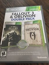 Fallout 3 & Oblivion Double Pack Xbox 360 Cib Game Nice Discs XG2