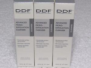 DDF Advanced Micro-Exfoliation Cleanser Anti-aging restorative 1.5 oz (0.5 x 3)
