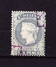 St HELENA 1884 Victoria 6p. Bleu Gris CA