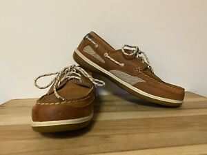 Vintage SEBAGO Women/'s 2 Tone Brown Leather Walking Boat Shoe Lace Up Oxford Casual Made in USA Size 7.5 Medium MINT condition