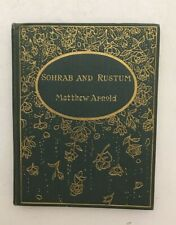 Sohrab and Rustum - Matthew Arnold - Attractive antique book circa 1900