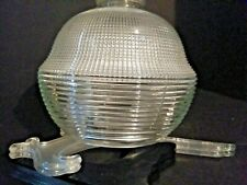 Vintage marked Holophane Light Shade Diffuser Glass Industrial  Prismatic
