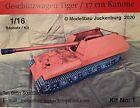 1:16 Modell Bausatz Model Kit / Geschützwagen Tiger 17cm / RC Panzer Tank