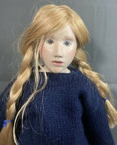 """Rare 16"""" Doll - France  - MALOU ANCELIN  9/50 - Freckles - Claire 1993 - Leather"""