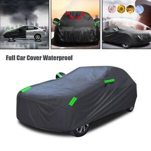 Full Car Cover Waterproof Dust-proof UV Resistant Outdoor Fit All Weather Cover