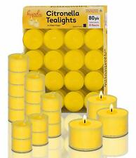 Clear Tealight Citronella Candles Mosquito Insect and Bug Repellent 8 Hour Burn