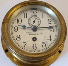 New ListingAntique Working Chelsea Clock Co. Brass Wind-Up Car Auto Clock with Winding Key