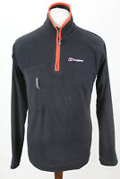 BERGHAUS Black 1/4 Zip Fleece Jumper size S