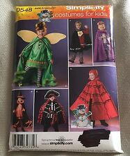 Simplicity 0548 Child Costume Pattern Knight Pirate Witch Princess Sz 3-8 As Is