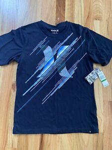 Hurley Boy Long Sleeve Raglan Logo Shirt Top Size Small Medium Extra Large Blue